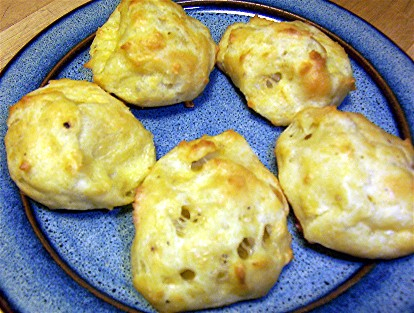 cumin and pepper gougeres