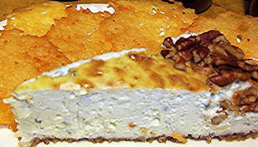 gorgonzola cheesecake and parmesancrisps