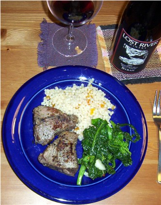 lamb chops, couscous and broccoli rabe